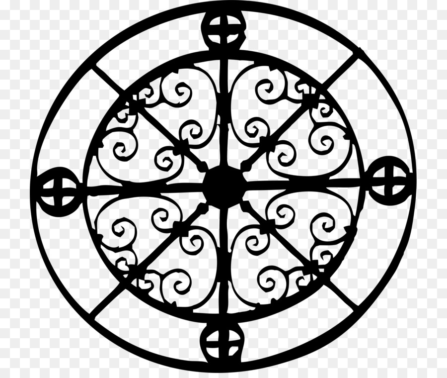 Clip art Wrought iron Compass Rose Cast iron.