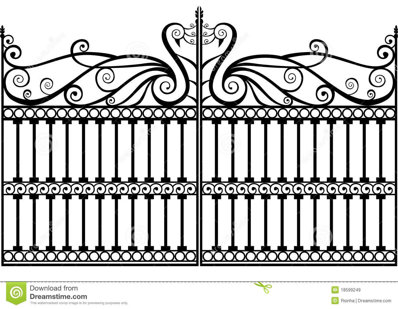 Wrought Iron Gate Clipart#2205315.