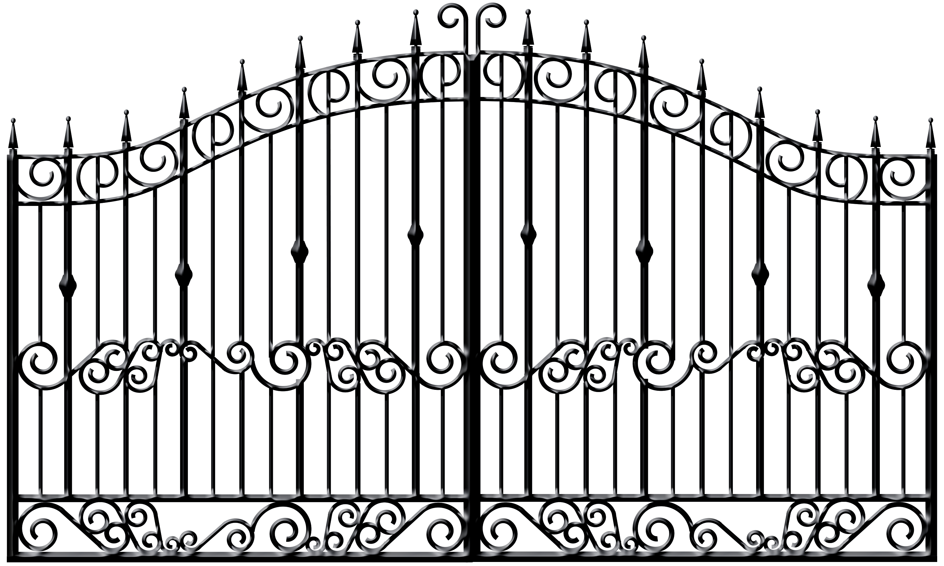 Wrought Iron Gate Clipart#2205329.