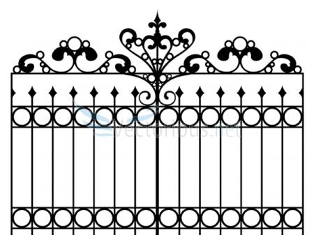 Iron Gates Clipart.