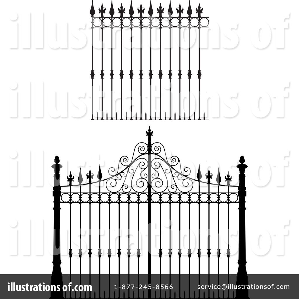 Wrought Iron Gates Clip Art.