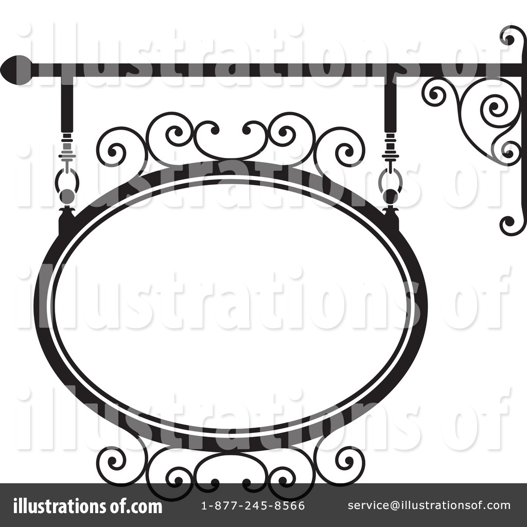 Wrought Iron Sign Clipart #209296.
