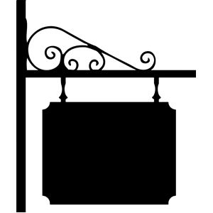 Wrought Iron Sign clipart, cliparts of Wrought Iron Sign.