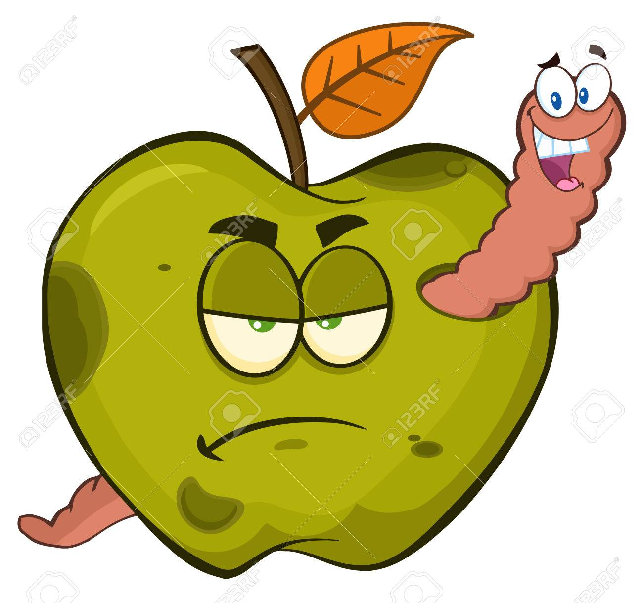 Rotting Apple Clipart.