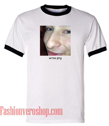 Wrow Png Ringer Unisex adult T shirt.