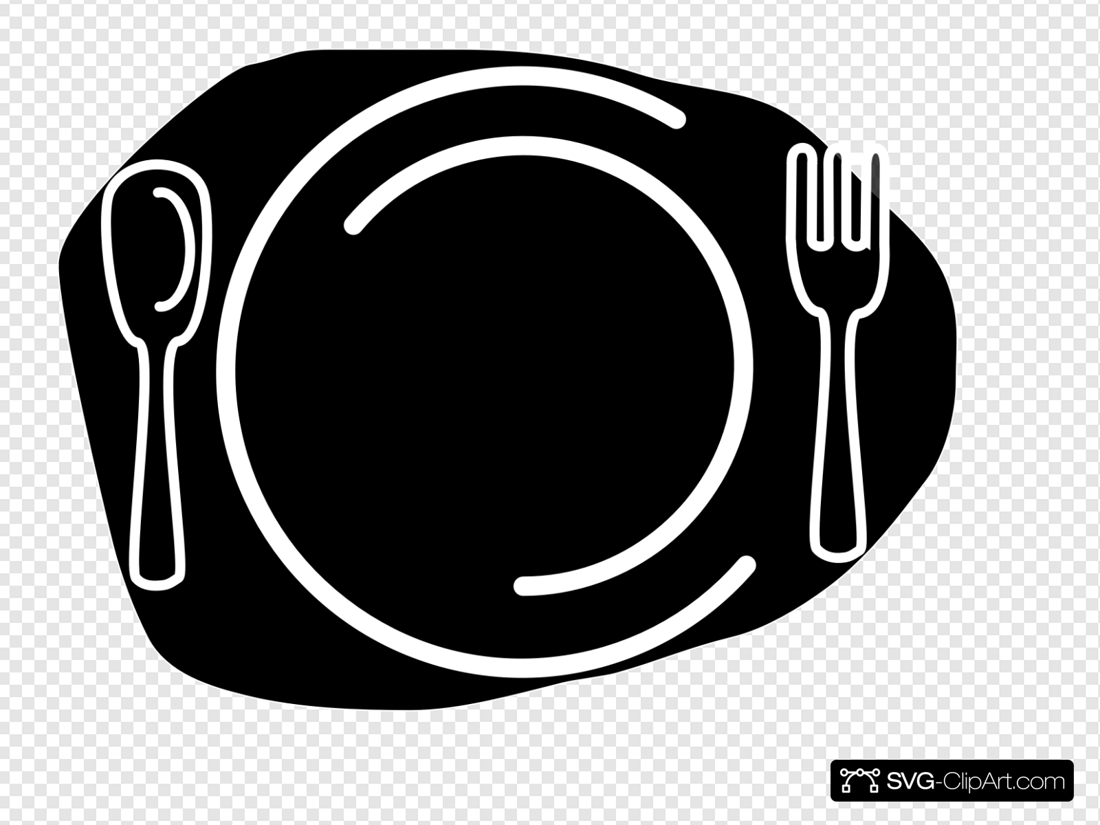 Knife And Fork Clipart Blck Clip art, Icon and SVG.