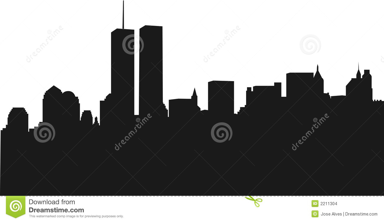 New York Skyline With WTC Stock Images.