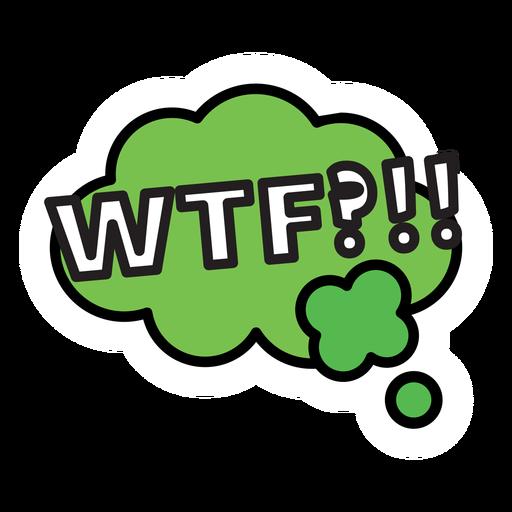 Wtf sticker.
