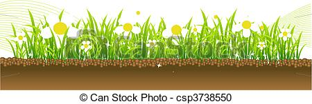 Vector Clipart of Spring, flowers on the meadow csp3738550.