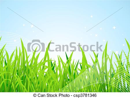 Clip Art Vector of Spring meadow beautiful csp3781346.