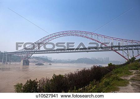 Stock Photography of China, Chongqing, Chaotianmen Yangtze River.