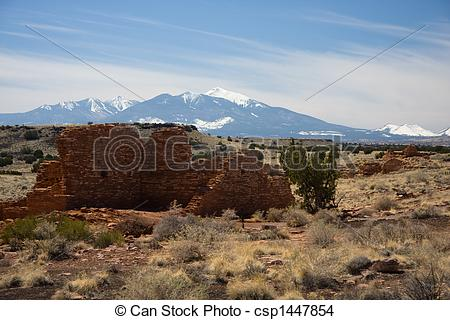 Stock Photo of Lomaki Pueblo at Wupatki Monument.