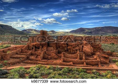 Stock Photograph of Wupatki Ruins, Arizona USA k6677339.
