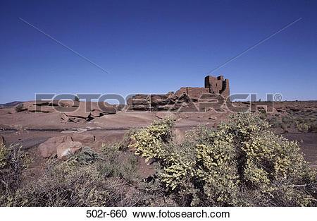 Stock Photography of Wukoki Pueblo, Wupatki National Monument.