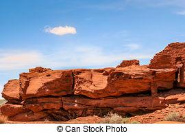 Stock Image of Pueblo at Wupatki National Park.