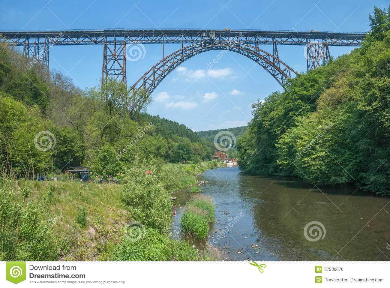Muengstener Bruecke,Wupper River,Solingen,Germany Stock Photo.
