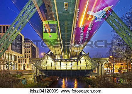 Stock Photograph of Wuppertal Suspension Railway at the station.
