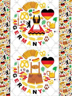 Typography Text Map of Germany Map, Art Print (276).