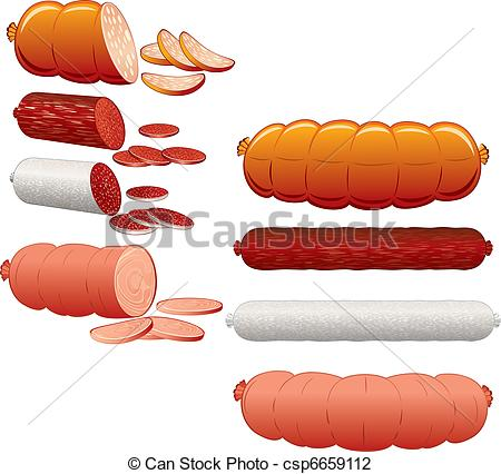 Vector Illustration of Wurst collection.