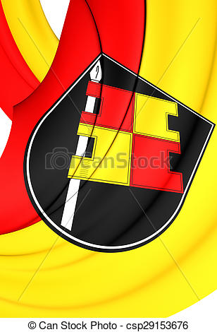 Stock Illustrations of Flag of Wurzburg City, Germany..