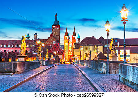 Stock Photo of Wurzburg, Bavaria, Germany.