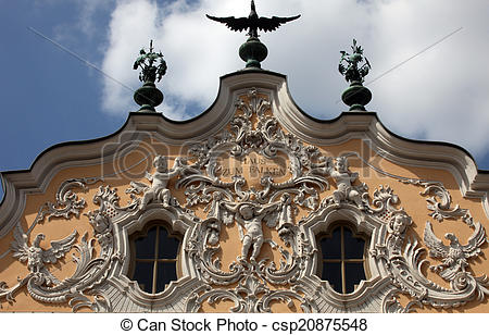 Stock Photo of House of Falcon, the finest Rococo style building.