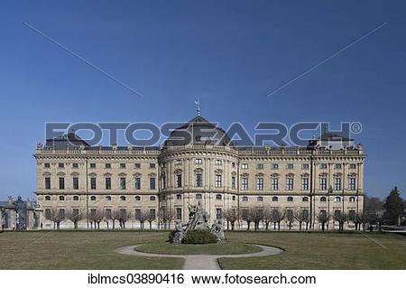 """Stock Images of """"Wurzburg Residence palace, Wurzburg, Lower."""