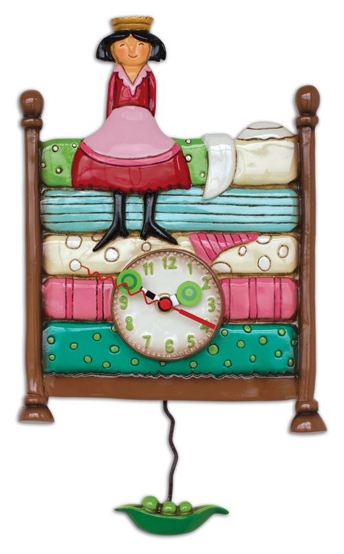 Allen Designs Princess Peapod Pendulum Clock.