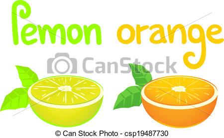 Vektoren von orange, würzen, zitrone.