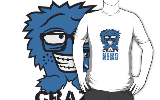 logo nerd geek schlau hornbrille zahnspange freak pickel haarig.