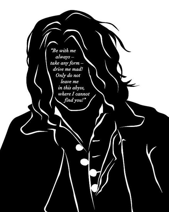 Wuthering Heights Heathcliff Quote Art Print by 10cameliaway.