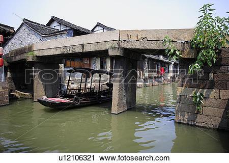 Stock Photography of China, Zhejiang Province, Wuzhen, tourist.