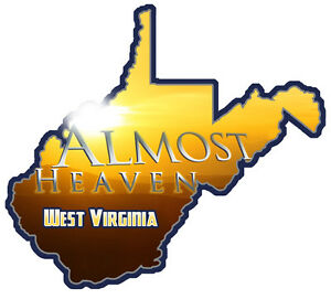Details about west virginia almost heaven decal.