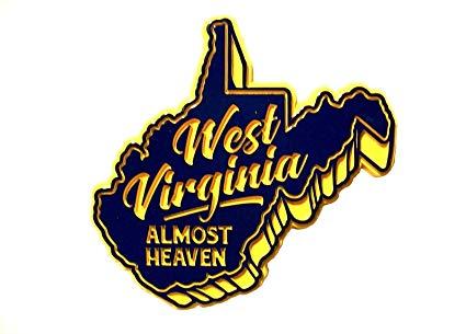 West Virginia Almost Heaven Fridge Magnet.