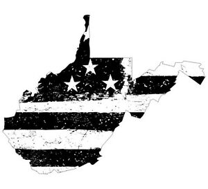 Details about Distressed Black/White Design State West Virginia Tattered  Flag Various Sizes.