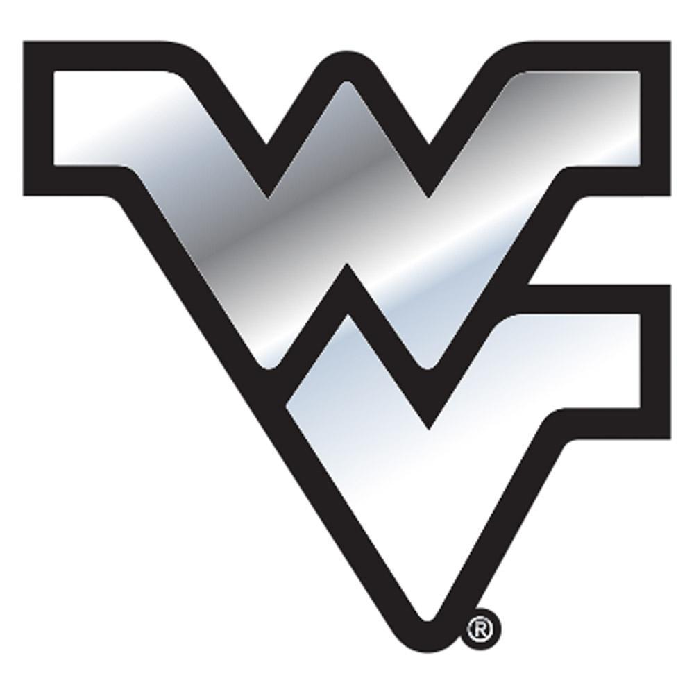 West Virginia Car Magnet Chrome WV Logo 3.