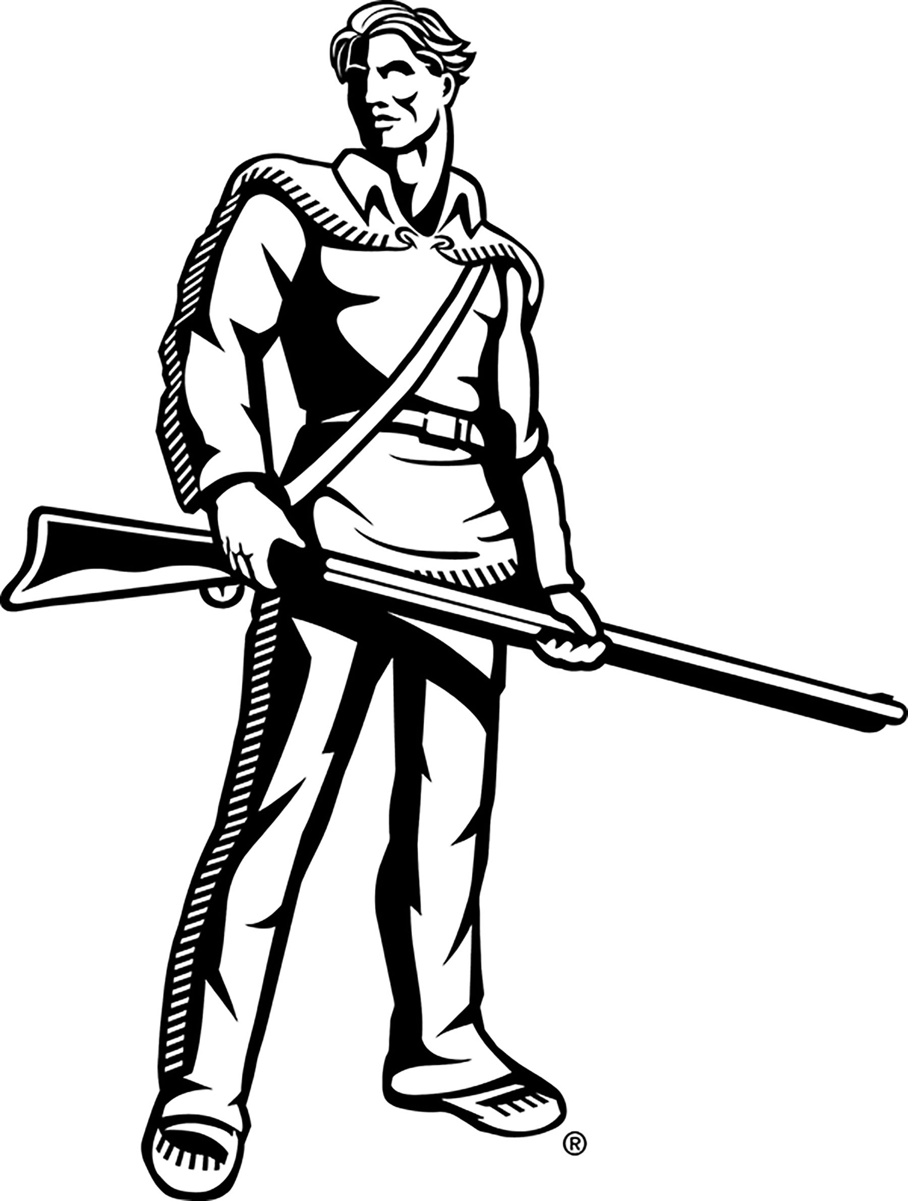 Mountaineer Mascot Clipart.