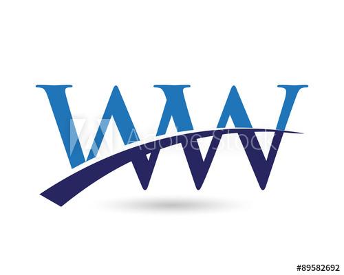 WW Logo Letter Swoosh.