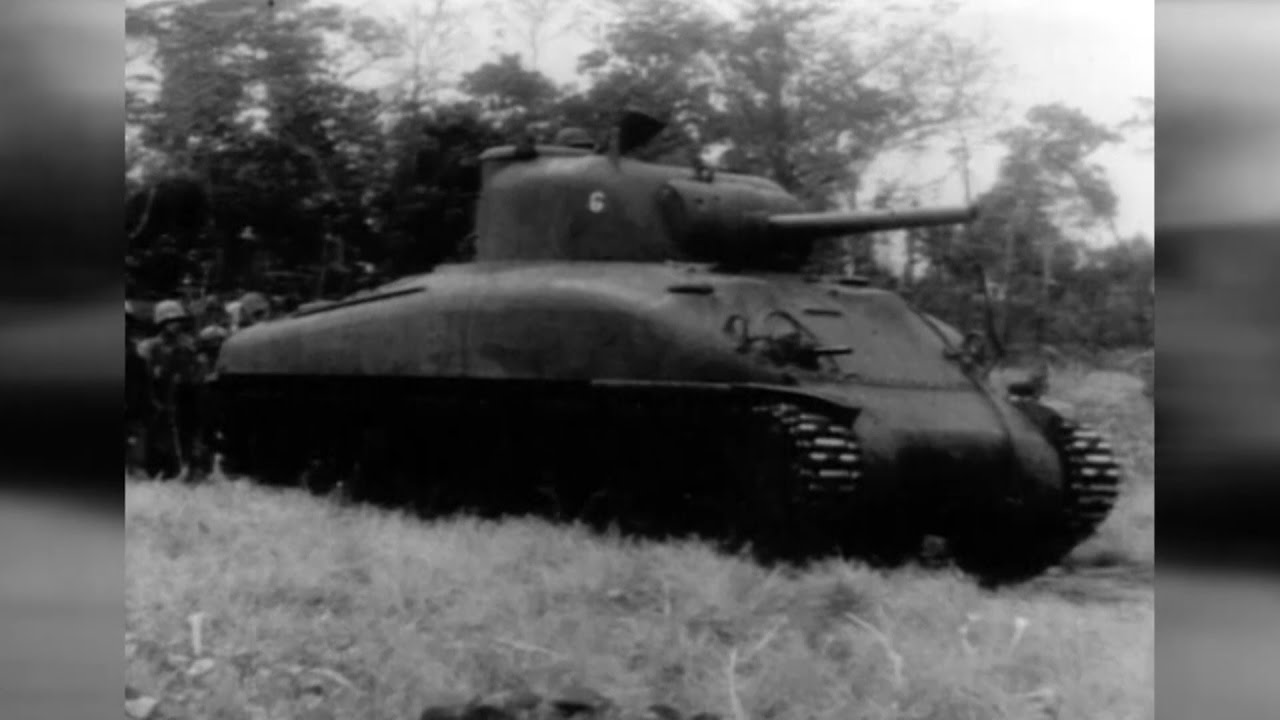 Amazing Footage Of American World War 2 Tanks In Action.