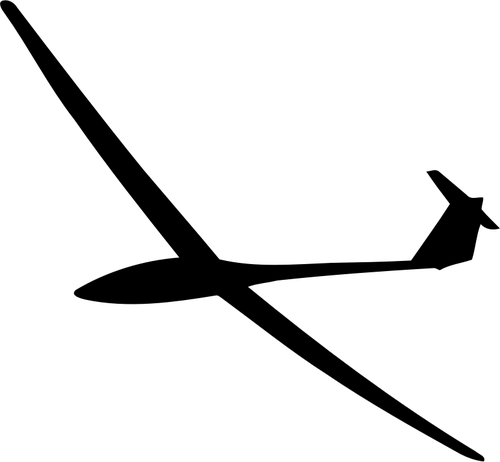 Small glider silhouette.
