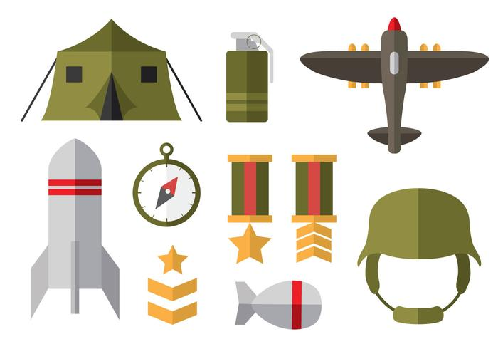 Free World War 2 Flat Icons.