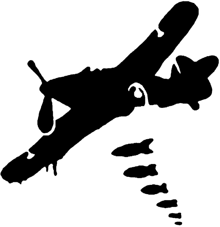 Plane Dropping Bombs Clipart.
