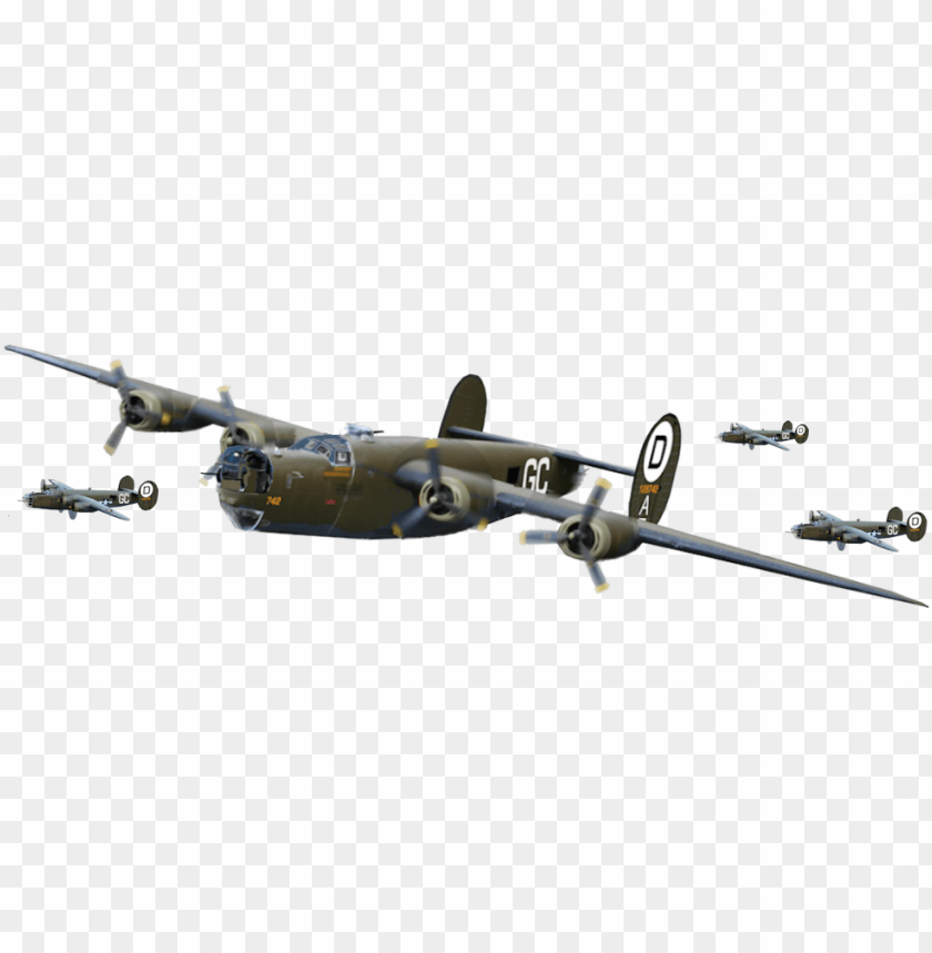 bomber plane ww2 PNG image with transparent background.