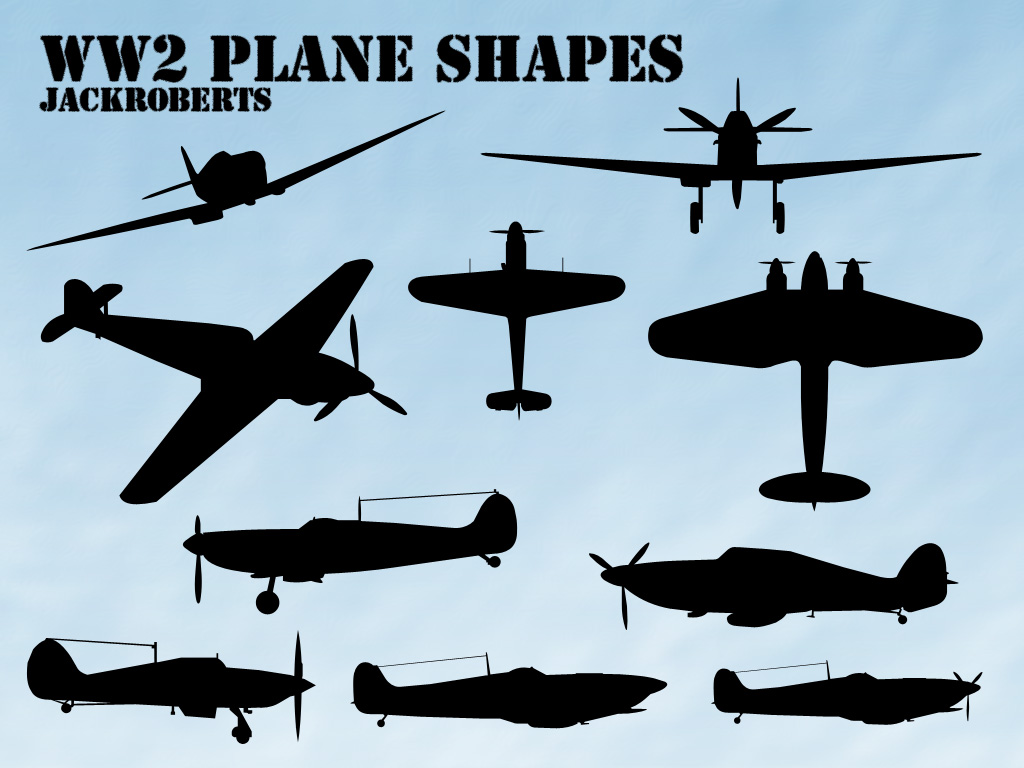 World War 2 Plane Silhouette.