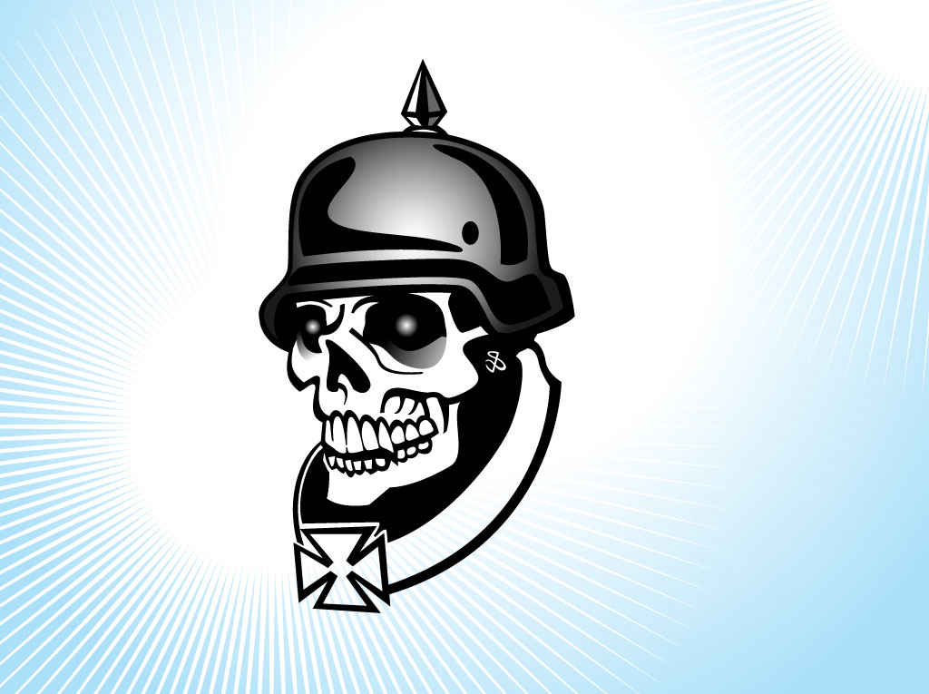 German Soldier Skull.