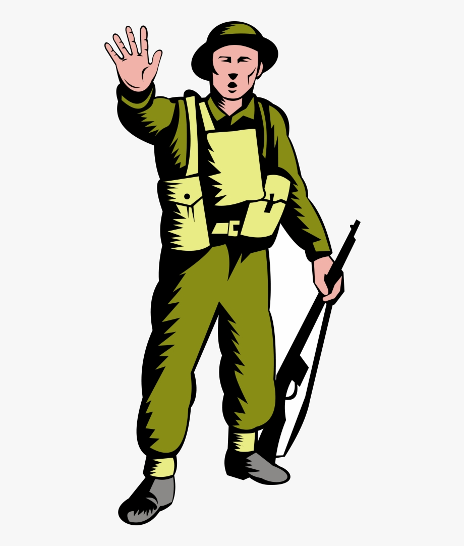Soldier Janitor Clipart Male World War Two Free Transparent.
