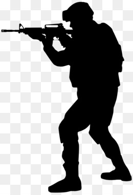 Soldier Silhouette PNG.