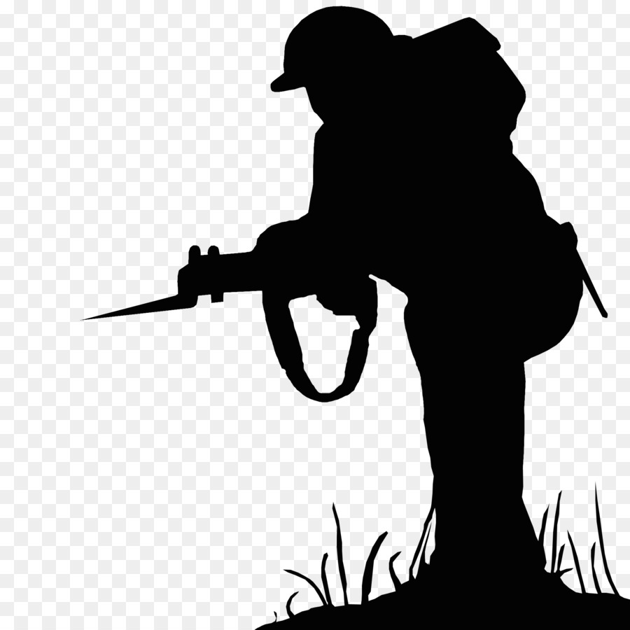 Soldier Silhouette clipart.