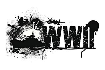 Amazon.com: World War II Patriotic Black and White Art Print.