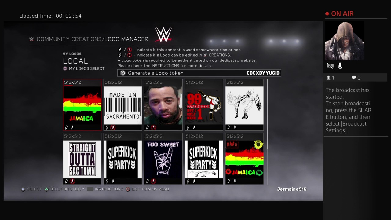 wwe 2k17 How to upload a LOGO.